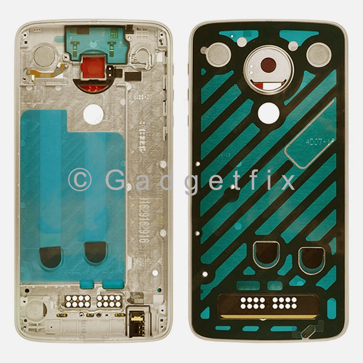 Gold LCD Middle Frame Bezel For Motorola Moto Z Play XT1635-02 | Droid XT1635-01