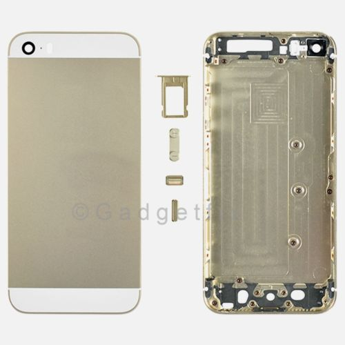 US Gold Rear Back Door Battery Cover Bezel Case Housing compatible with Iphone 5