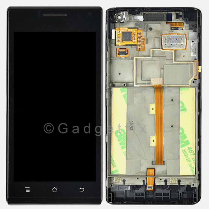 US Huawei Ascend P1 U9200 LCD Screen Digitizer Touch Screen + Frame Faceplate US