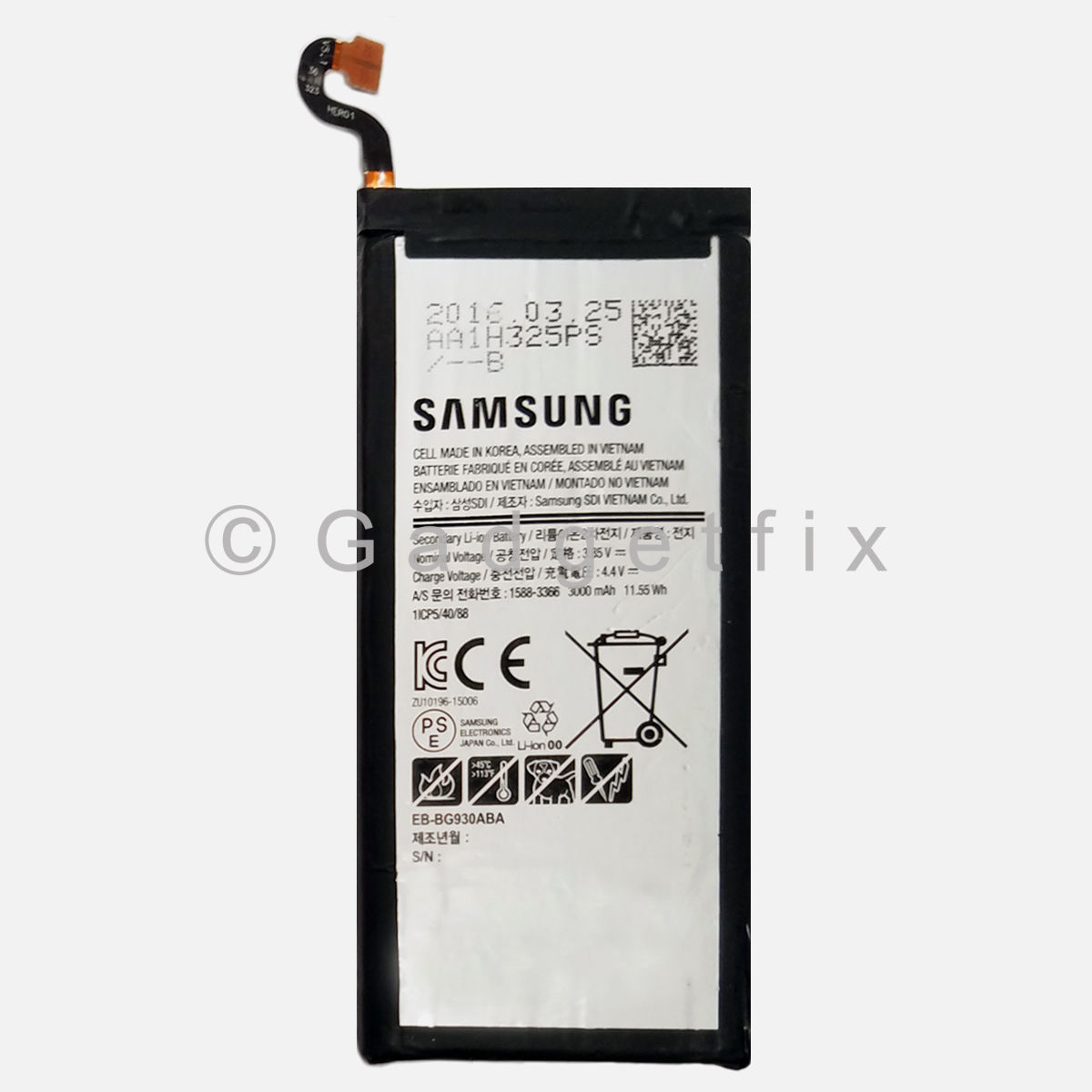 US OEM EB-BG930ABA 3000 mAh Internal Replacement Battery for Samsung Galaxy S7