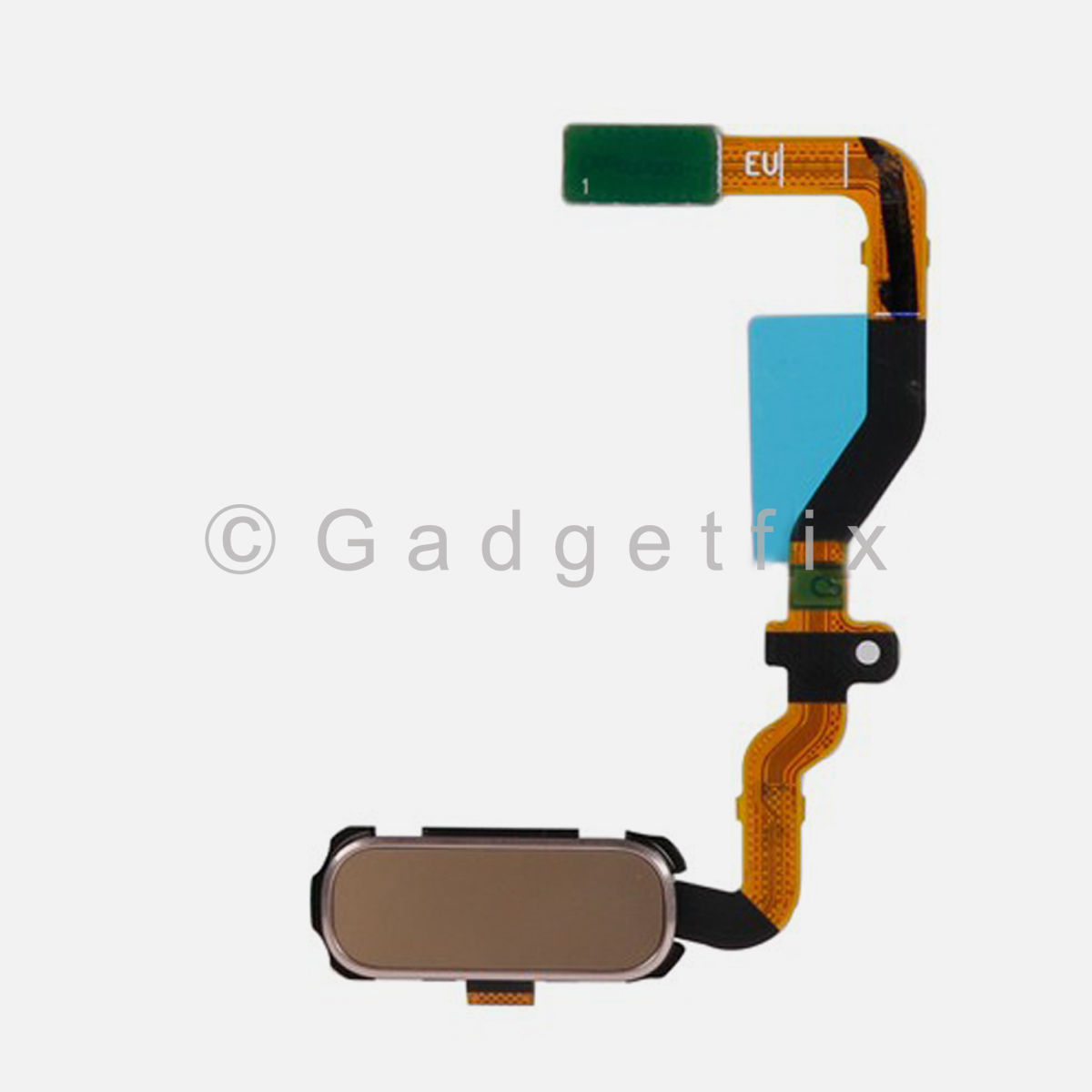 Gold Menu Home Button Flex Cable Replacement Parts For Samsung Galaxy S7