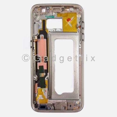 Gold Samsung Galaxy S7 G930A G930T G930V G930P Middle Housing Frame Bezel Mid Chassis