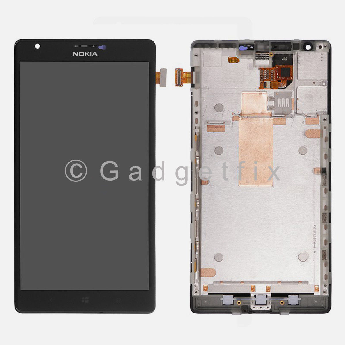 LCD Display Touch Screen Digitizer Assembly + Frame For Nokia Lumia 1520
