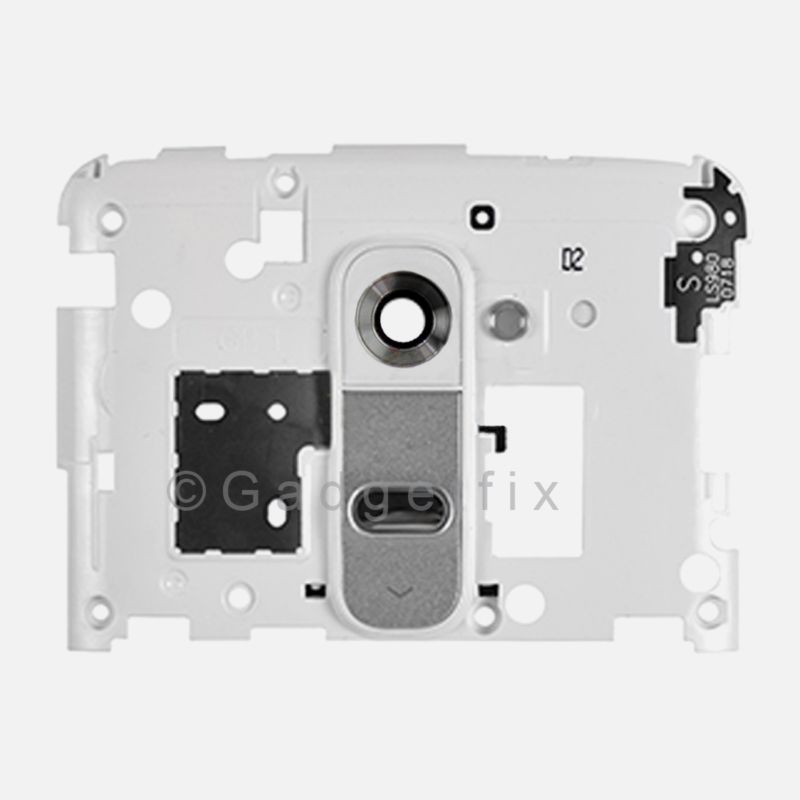 US OEM LG G2 D800 D801 D802 D803 D805 LS980 Back Housing Frame Camera Lens White