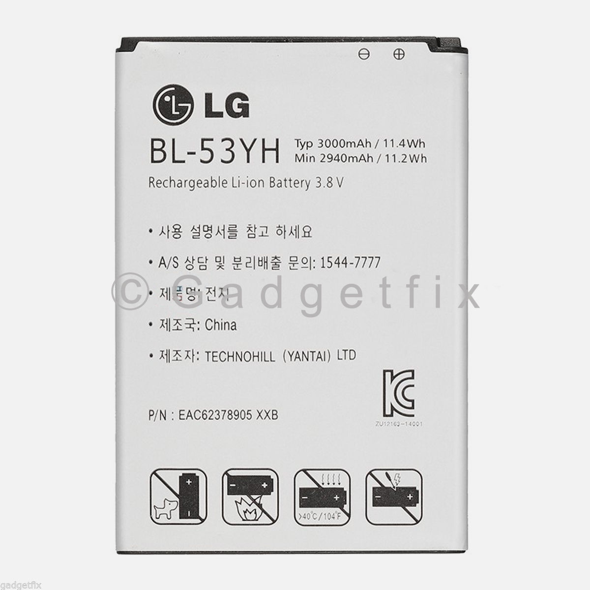 US OEM Original BL-53YH Battery for LG G3 VS985 F400 D850 D855 3000mAh Genuine