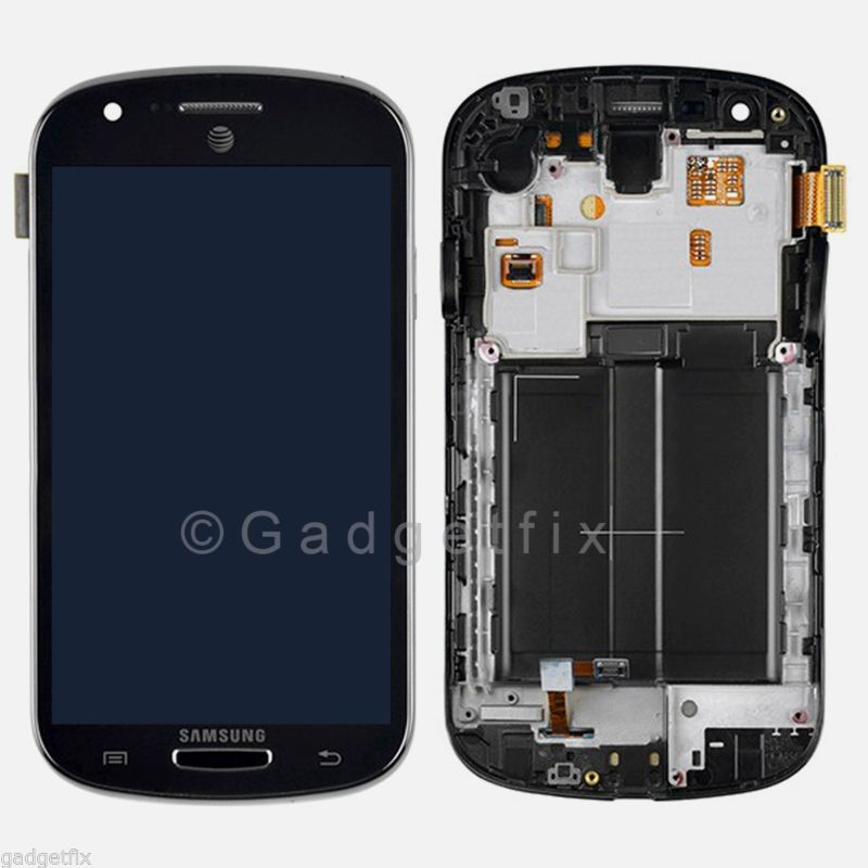 US OEM Samsung Galaxy Express i437 LCD Touch Digitizer Screen + Frame Assembly