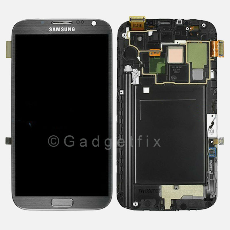 OEM Samsung Galaxy Note 2 N7105 i317 T889 LCD Screen Touch Digitizer + Frame