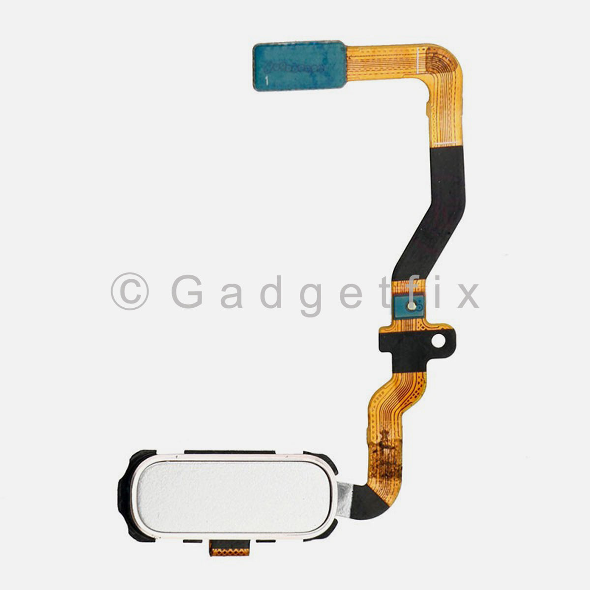 White Menu Home Button Flex Cable Replacement Parts For Samsung Galaxy S7