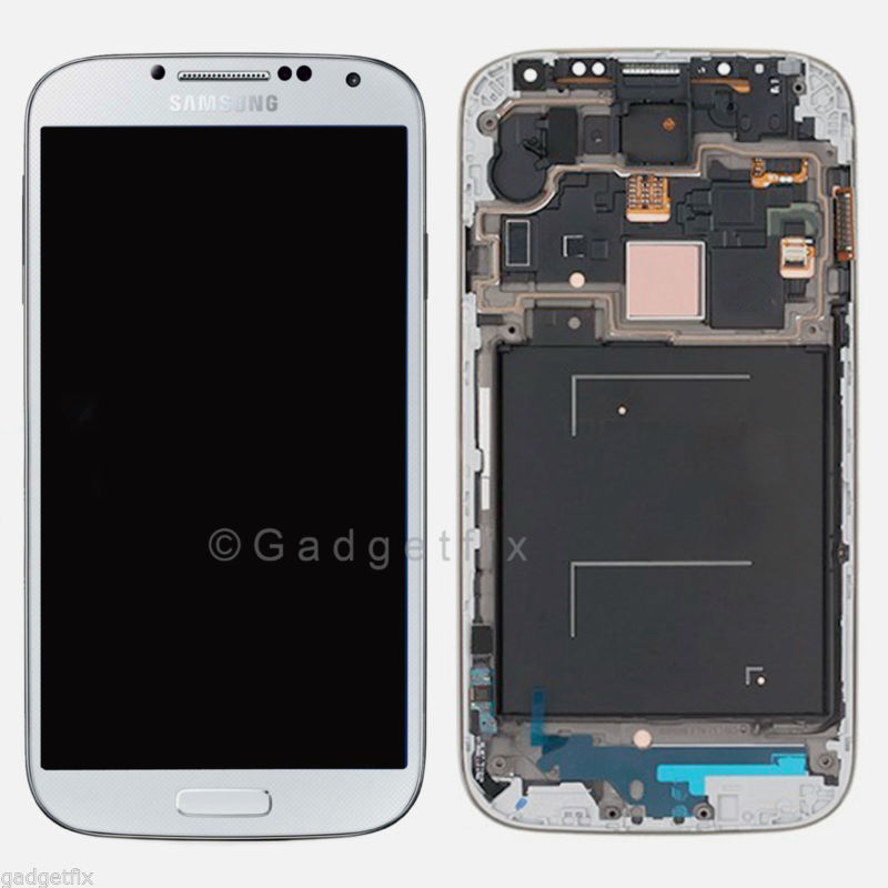 OEM White Samsung Galaxy S4 i9505 i337 M919 LCD Touch Screen Digitizer Frame