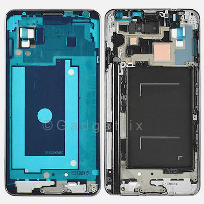 US Samsung Galaxy Note 3 N900A N900T Faceplate Bezel Middle Plate Frame Housing