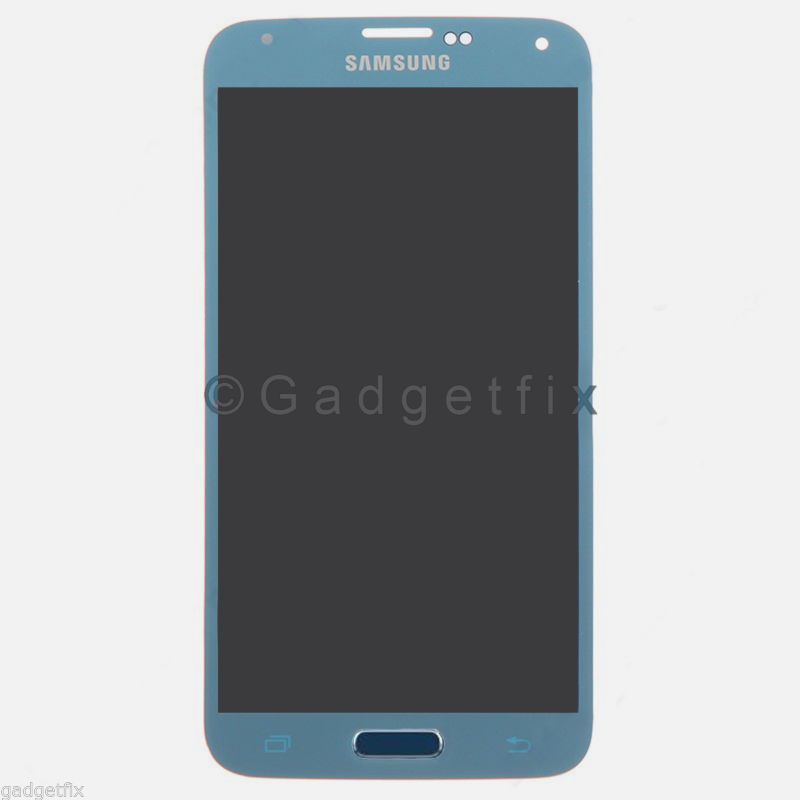 Samsung Galaxy S5 G900A G900T G900V G900P LCD Screen Touch Digitizer Electric Blue A