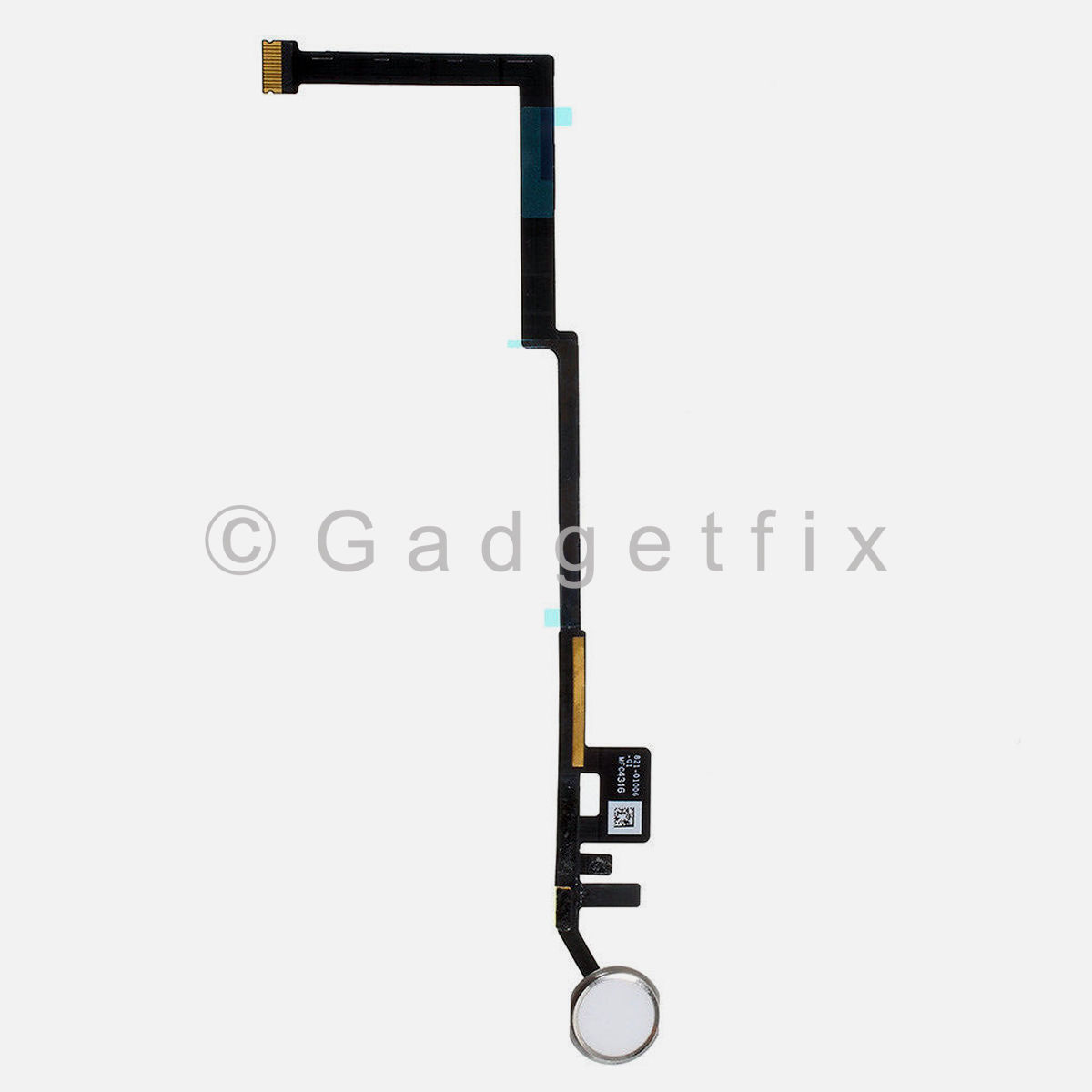 White | Silver Home Button Key Flex Cable Connector For iPad 5th Gen 2017 A1822 A1823