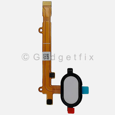US White Button Touch ID Sensor Fingerprint Flex Cable For Moto Z2 Play XT1710