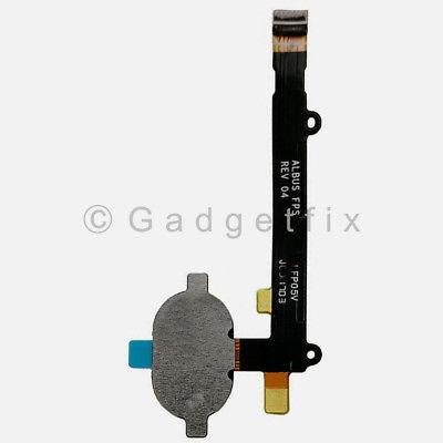 US White Button Touch ID Sensor Fingerprint Flex Cable For Moto Z2 Play XT1710