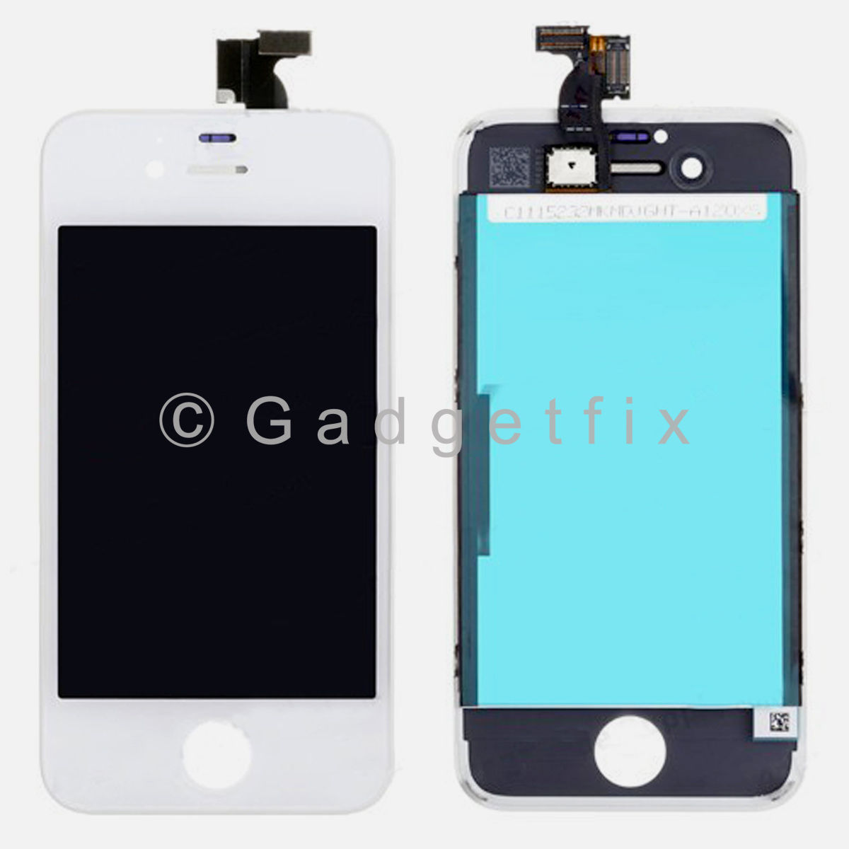White LCD Display Touch Screen Digitizer Assembly + Frame Parts For Iphone 4S