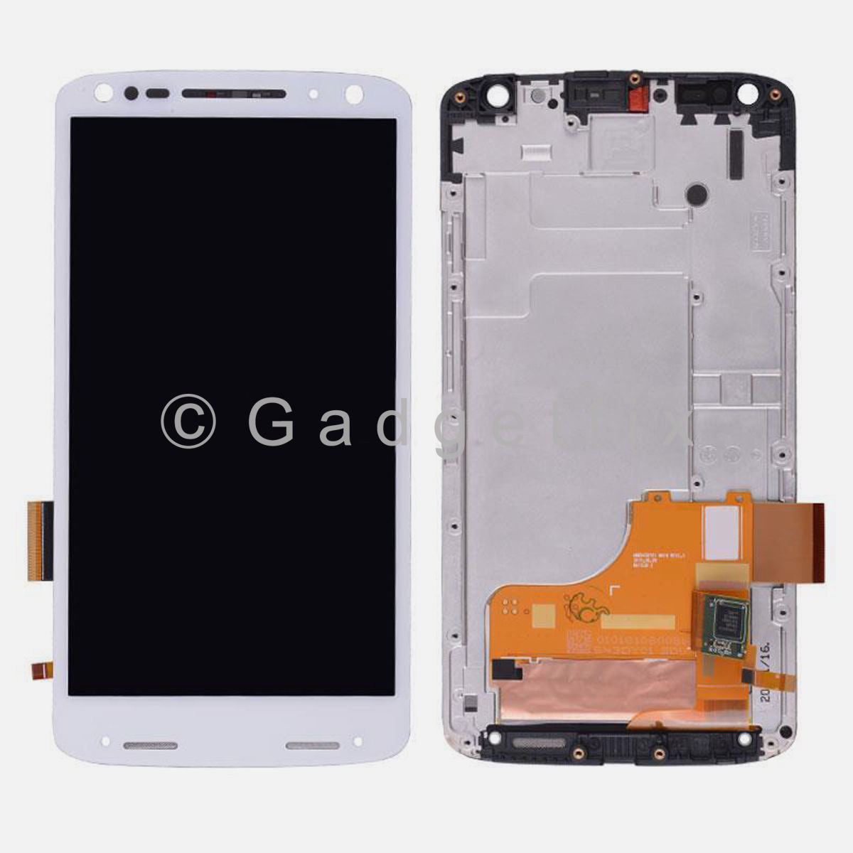 US White Motorola Droid Turbo 2 XT1580 XT1581 LCD Touch Screen Digitizer + Frame