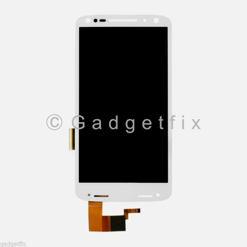 US White Motorola Droid Turbo 2 XT1580 XT1581 XT1585 LCD Touch Screen Digitizer