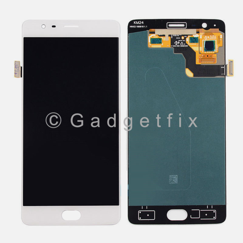 White OnePlus 3 Three A3000 A3003 OLED LCD Display Touch Screen Digitizer Assembly