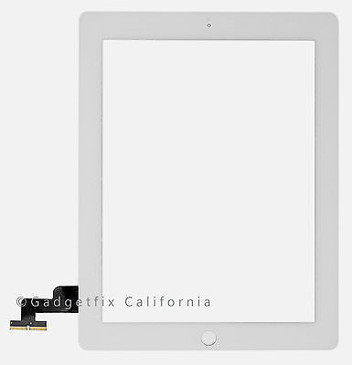 White Outer Glass Touch Screen Digitizer Part for iPad 2 2nd Gen Generation