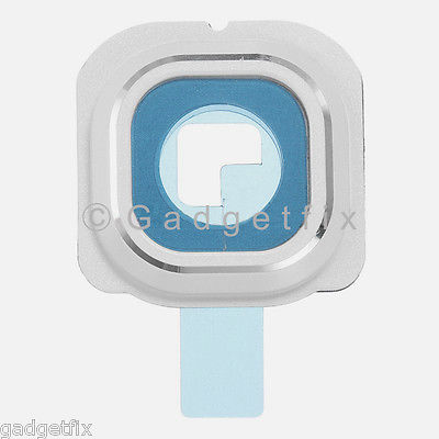White Samsung Galaxy S6 Edge G925A G925T G925V G925P Camera Glass Lens Cover