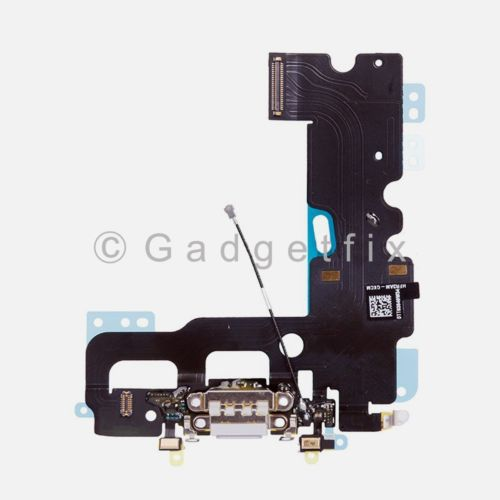 US White iPhone 7 Charging Charger Port Flex Cable Mic Antenna Replacement Parts
