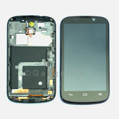 US ZTE Sequent | Warp 2 II N861 LCD Display Glass Touch Screen Digitizer + Frame