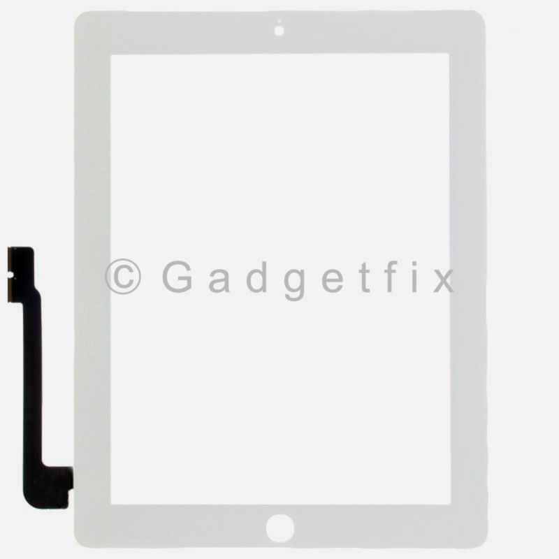 iPad 3 3rd Gen Generation Compatible Touch Screen Panel Glass Digitizer White