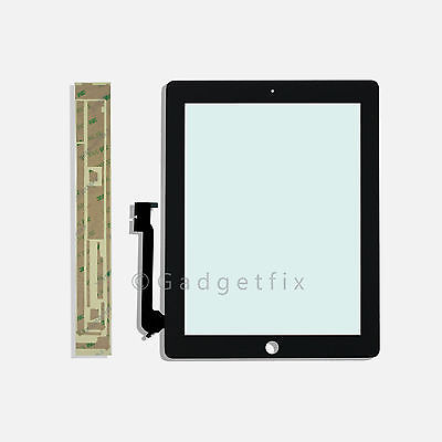 US iPad 3 3rd Gen Generation Touch Screen Panel Glass Digitizer Lens + Adhesive