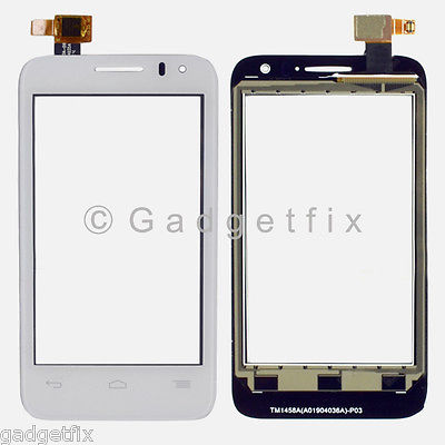 White Alcatel One Touch Evolve 2 OT-4037A OT-4037T Touch Screen Digitizer Glass