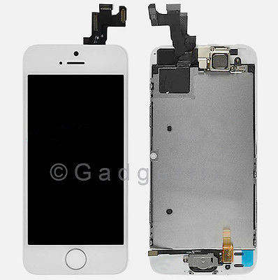 White LCD Screen Display + Touch Screen Digitizer + Button Camera for Iphone SE