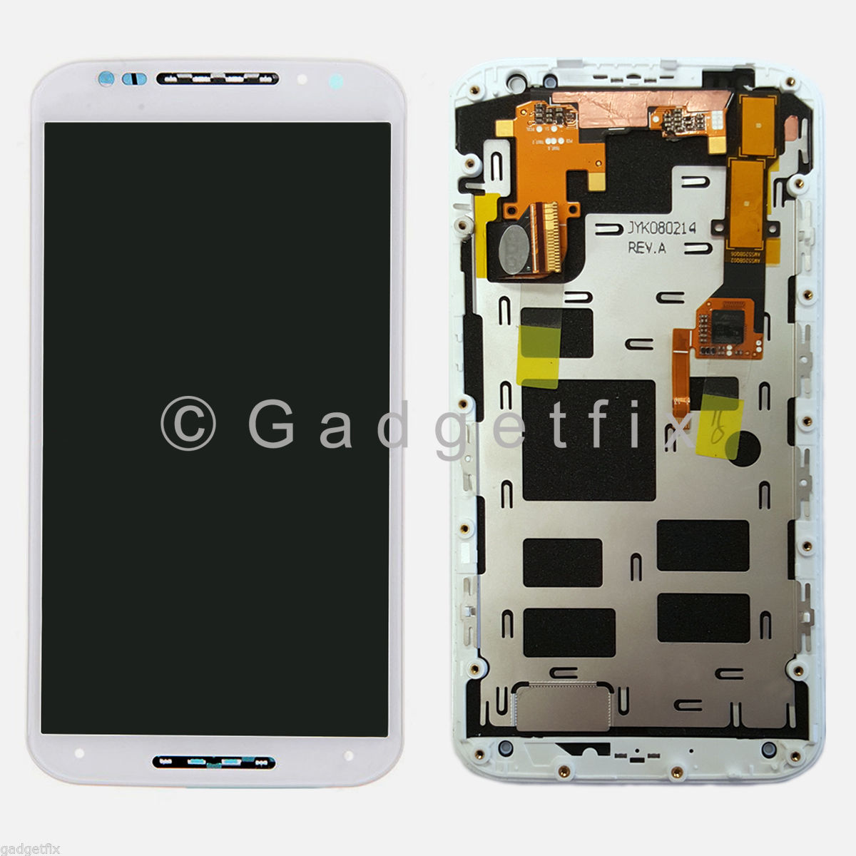 White LCD Touch Screen Digitizer + Frame For Motorola Moto X+1 X 2nd Gen 2014 XT1095