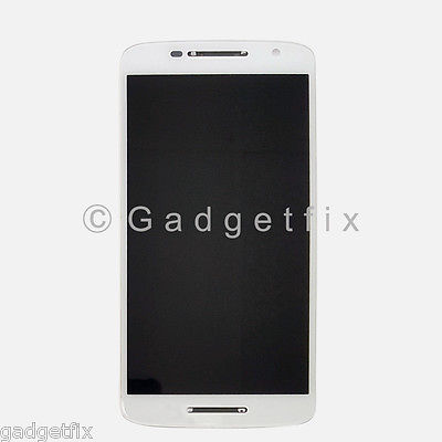 White Motorola Moto X Play XT1561 XT1562 XT1563 LCD Digitizer Touch Screen Frame