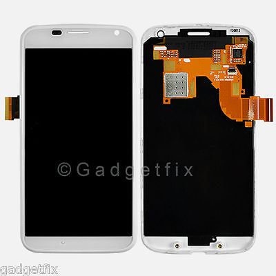 White LCD Touch Screen Digitizer Assembly + Frame For Motorola Moto X XT1049 XT1052
