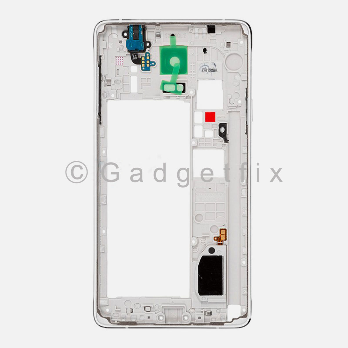 White Samsung Galaxy Note 4 N910A N910T N910F Frame Housing Bezel Camera Cover