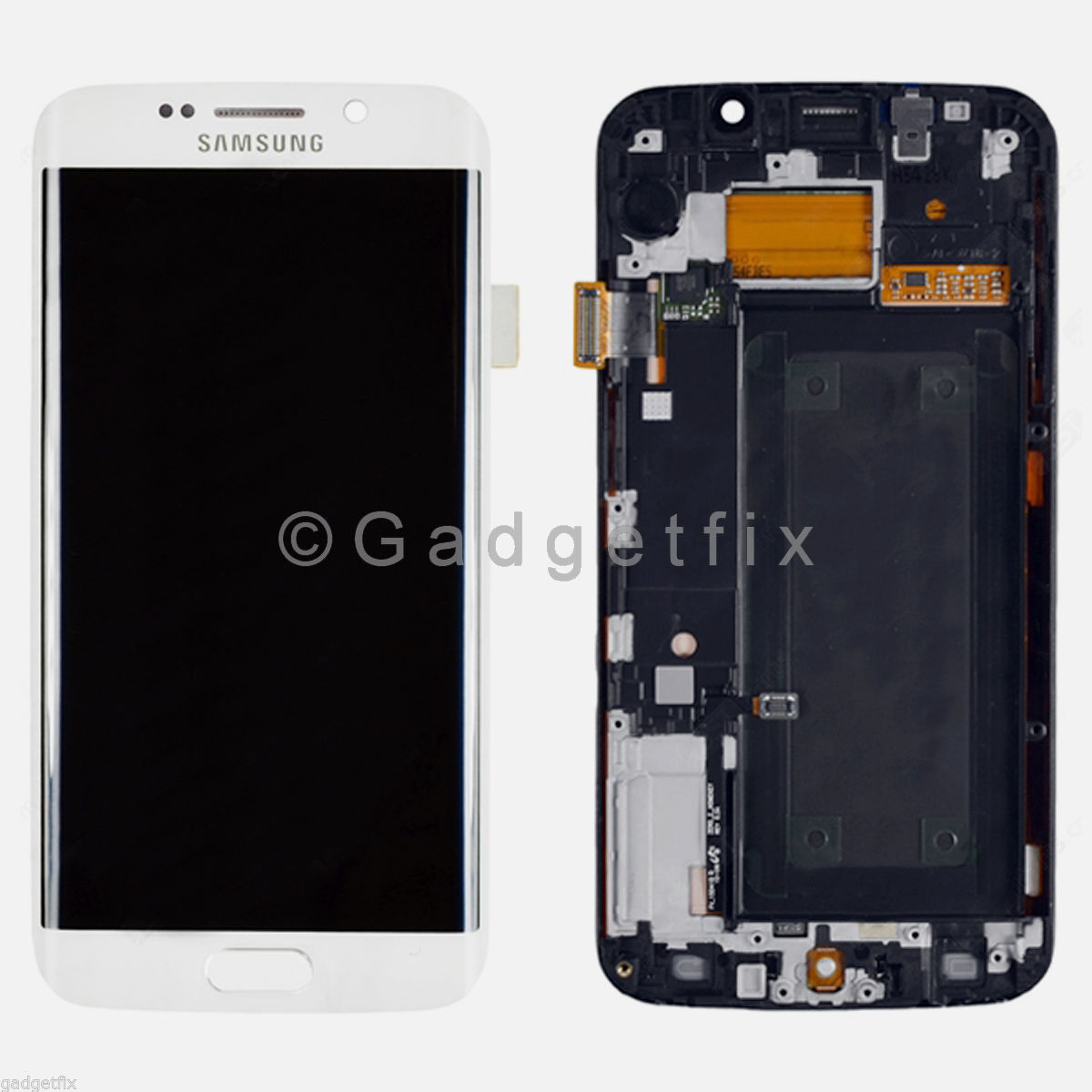 White Samsung Galaxy S6 Edge G925V G925P LCD Screen Touch Screen Digitizer Frame