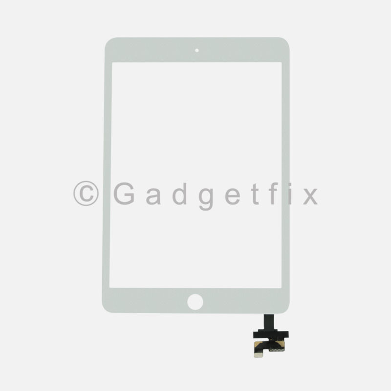 White Touch Screen Glass Digitizer IC Flex Connector Assembly for Ipad Mini 1 2