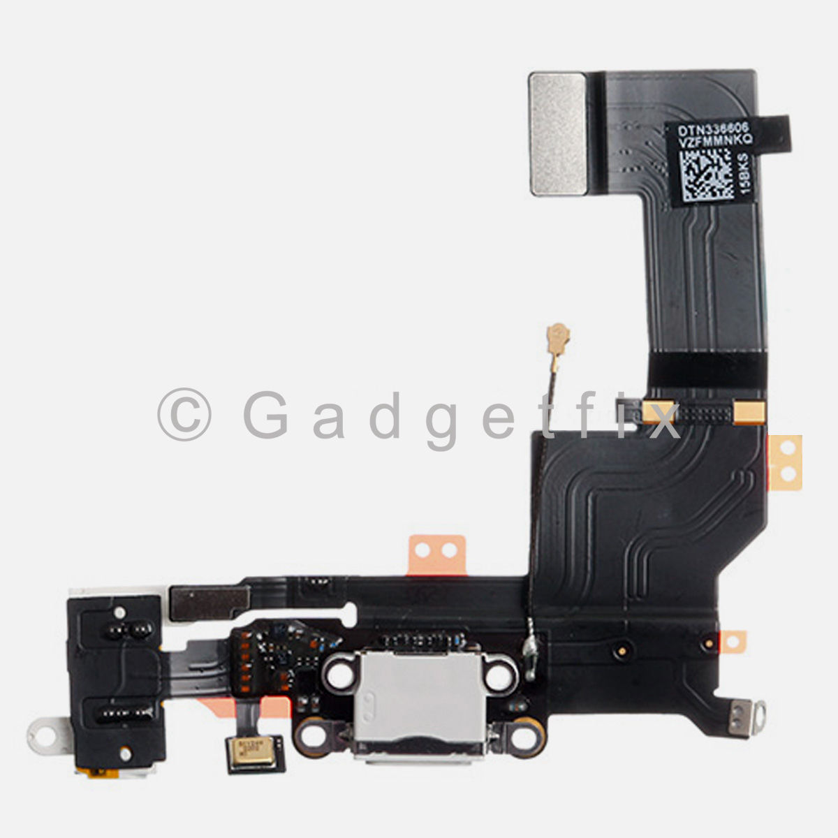 White USB Charging Charger Port Dock Headphone Jack Mic Flex Cable for Iphone 5S