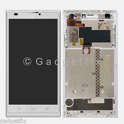 White ZTE Blade L2 LCD Screen Display + Touch Screen Digitizer + Frame Assembly