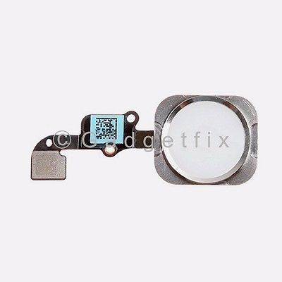 White iPhone 6 Plus Home Button Flex Cable Fingerprint Touch ID Sensor Connector