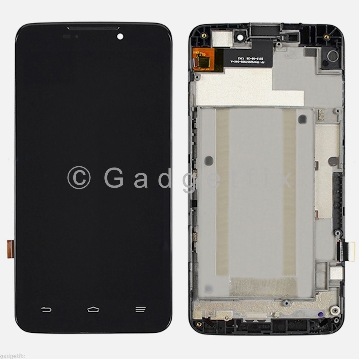 "ZTE MAX Boost Mobile N9520 5.7"" LCD Screen Display Touch Screen Digitizer Frame"