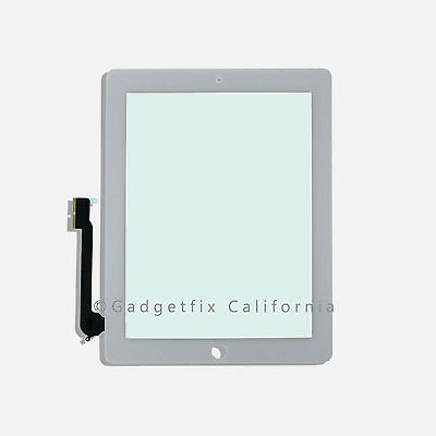 iPad 3 3rd Gen Generation Compatible Touch Screen Glass Digitizer + Frame White