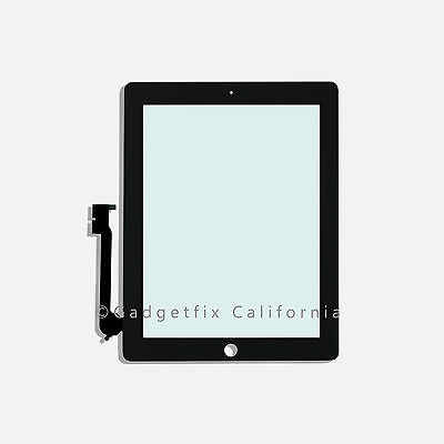 iPad 3 3rd Gen Generation Compatible Touch Screen Glass Digitizer + Mid Frame US