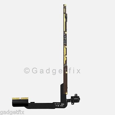 iPad 3rd 4th 3 4  Volume Headphone Audio Headset Jack + PCB Board Flex Cable 4G