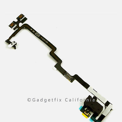 White Headphone Audio Jack Flex Cable for Iphone 4 (Sprint | Verizon)
