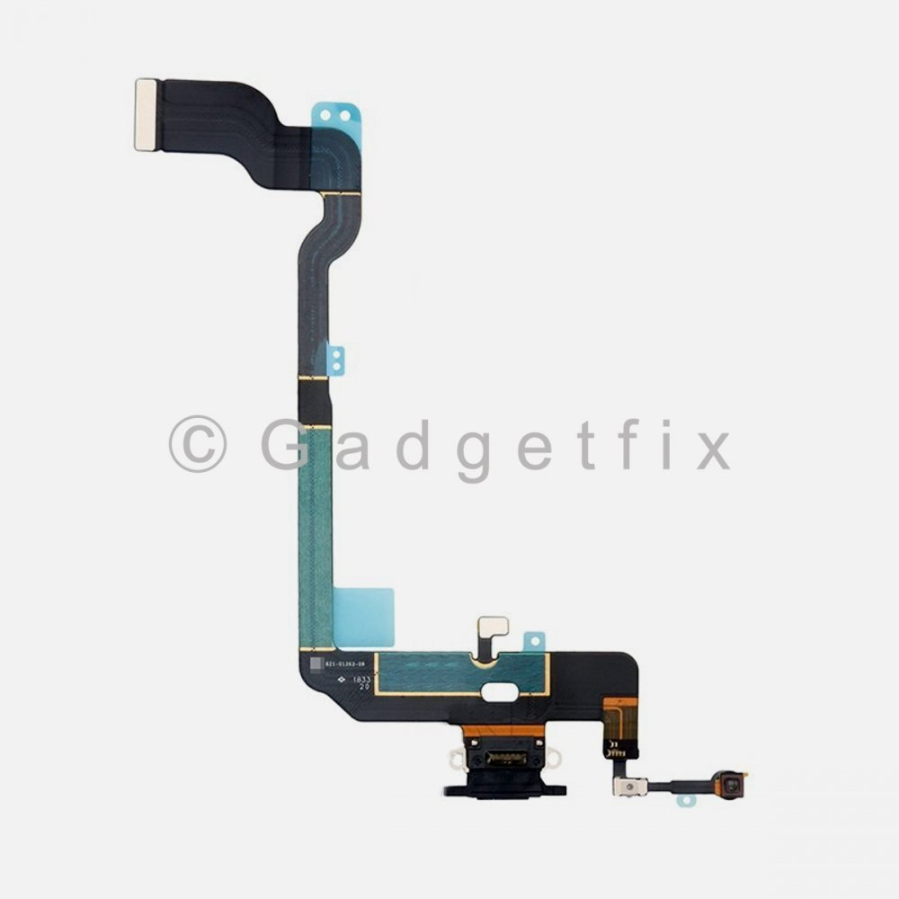 Gray Lighting Charger Charging Port Dock Connector Flex Cable + Mic For Iphone XS