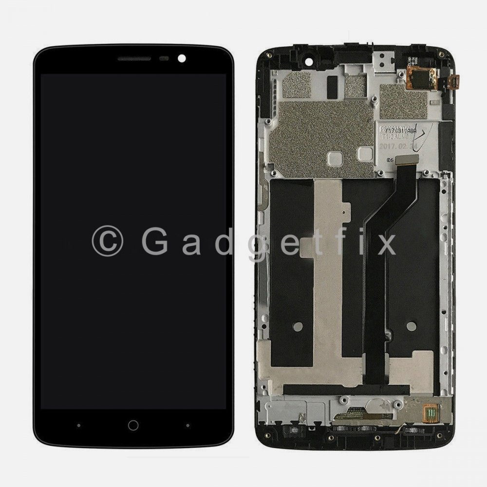 LCD Display Touch Screen Digitizer + Frame Replacement For ZTE MAX XL N9560