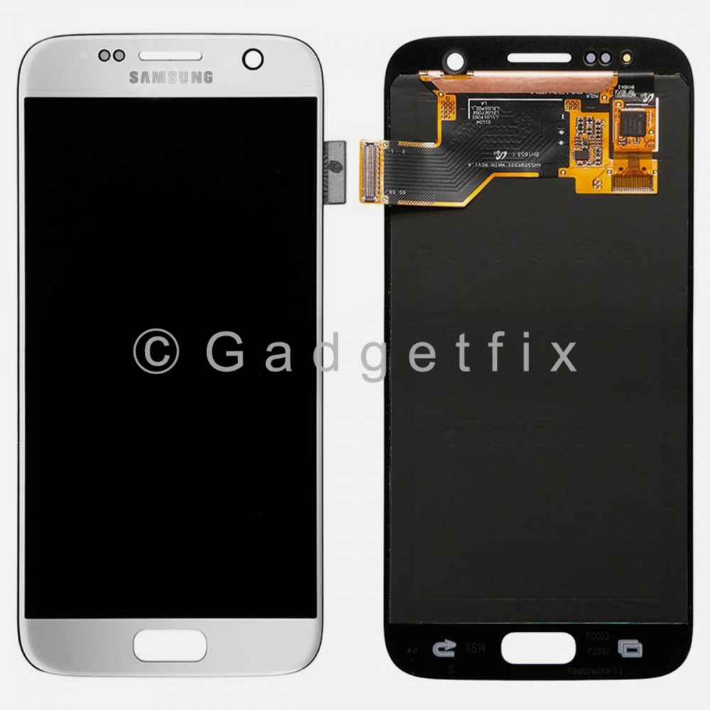 Silver Samsung Galaxy S7 G930A G930T G930V G930P LCD Display + Touch Screen Digitizer