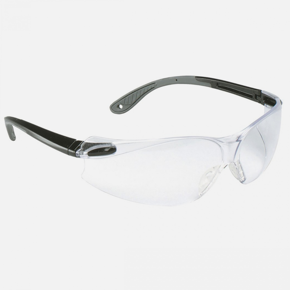 3M Virtua V4 Protective Safety Glasses Eyewear Clear HC Lens | Black/Gray Temple