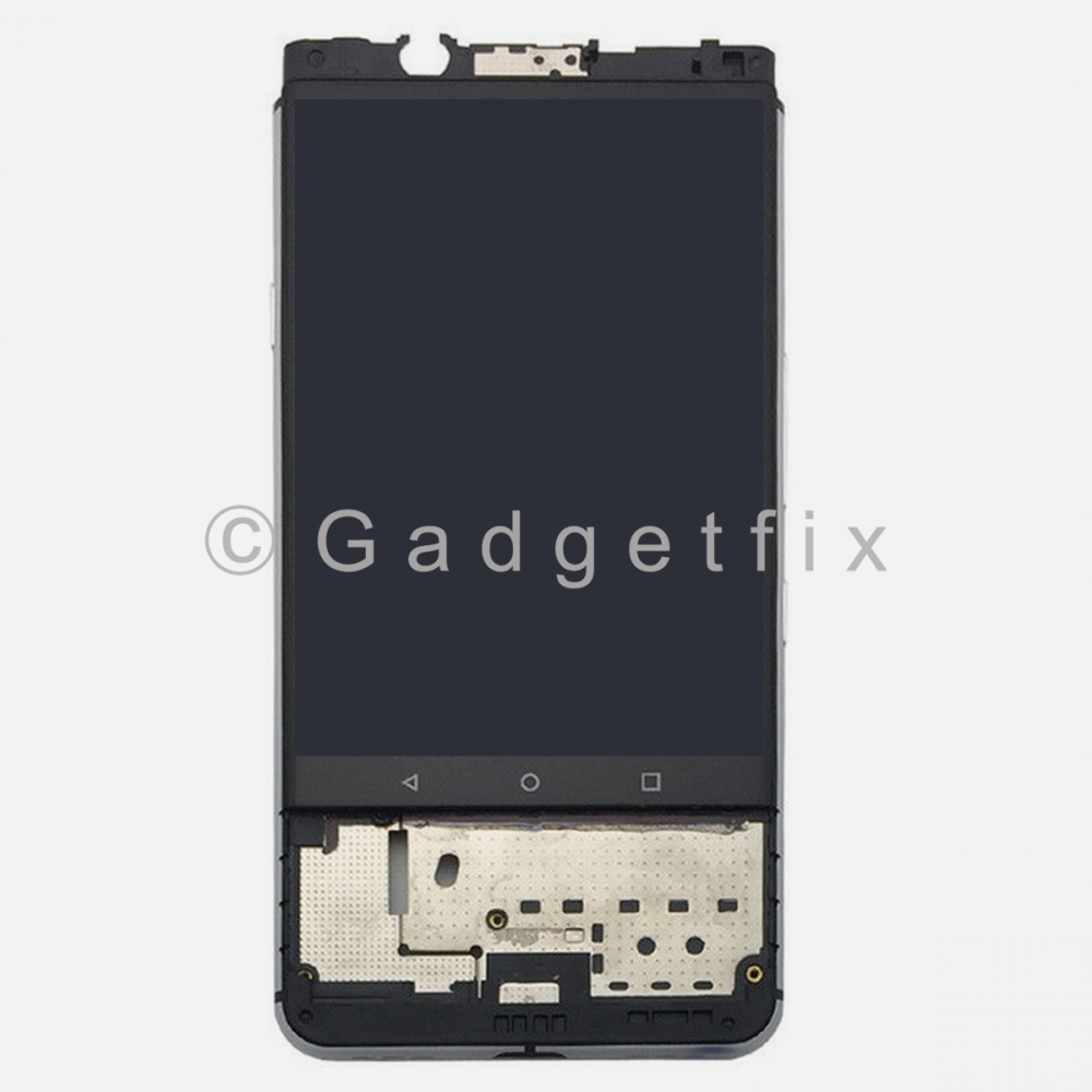 Silver Display LCD Touch Screen Digitizer Frame For Blackberry KeyOne Dk70 DTEK70