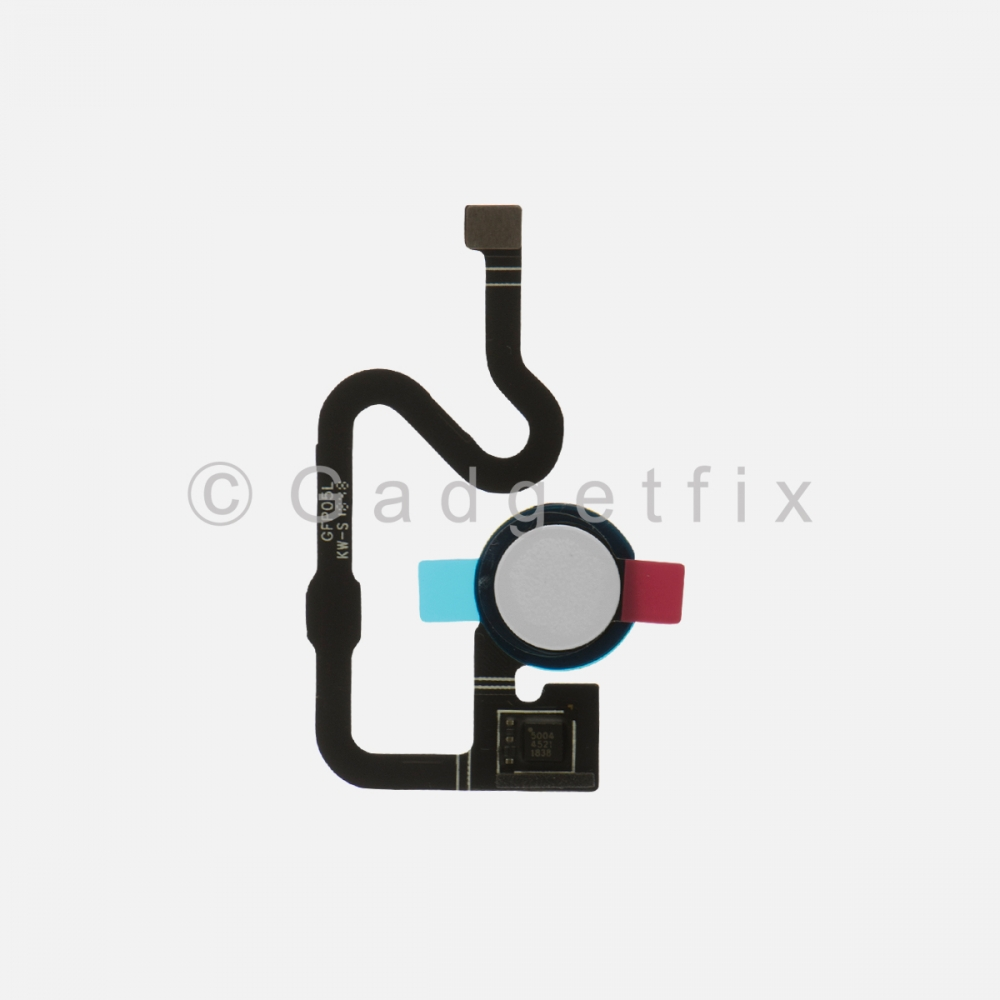 White Button Fingerprint Scanner Sensor For Google Pixel 3A XL